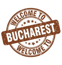 Welcome to bucharest vector