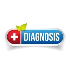 Diagnosis icon button vector