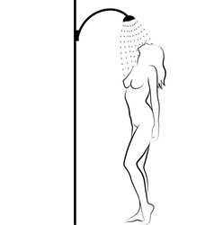 Woman in shower vector