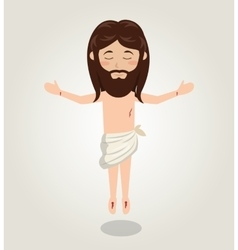 Jesus christ ascension design vector