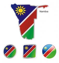namibia vector image