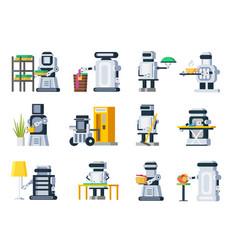 Artificial intelligence robots set vector
