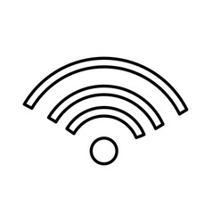 Wifi cellphone signal isolated icon vector