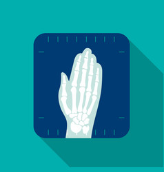 X-ray hand icon flat single medicine icon from vector