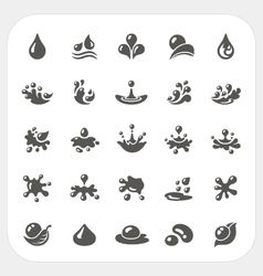 Water drop icons set vector image