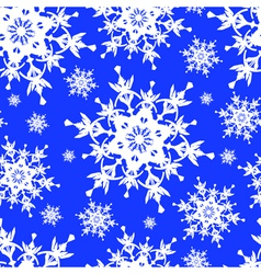 Seamless pattern blue with snowflakes vector