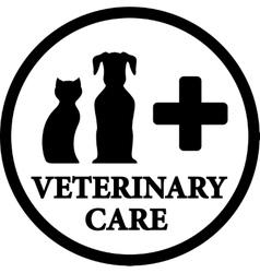 black veterinary medicine icon vector image