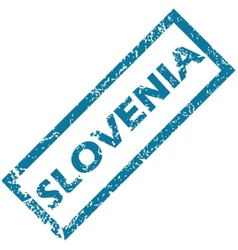 Slovenia rubber stamp vector