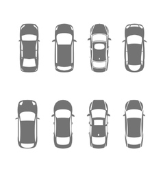 Cars top view vector