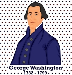Silhouette george washington vector