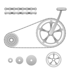 bicycle gear vector image
