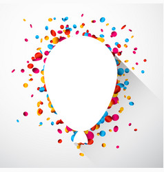 balloon background with colorful confetti vector image