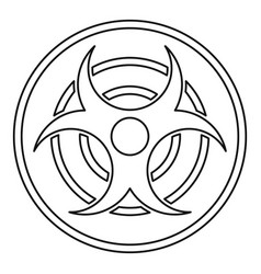 Biohazard sign icon outline style vector