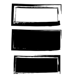 Grunge black frame background set vector image vector image