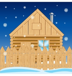 House in settle in winter vector image vector image
