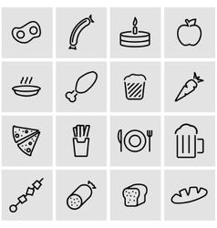 line food icon set vector image vector image