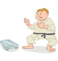 man on diet cartoon vector image vector image