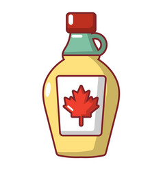 Maple syrup icon cartoon style vector