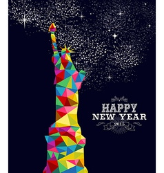 New year 2015 USA poster design vector image