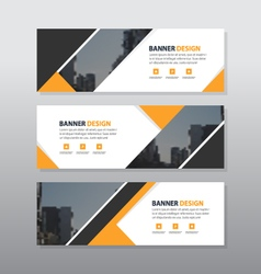 Orange black abstract triangle corporate business vector