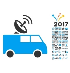Radio control car icon with 2017 year bonus vector