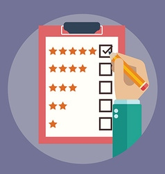 Rating on customer service vector image