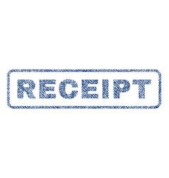 Receipt textile stamp vector