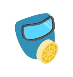 Respirator isometric 3d icon vector