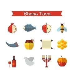 Rosh hashanah or shana tova vector