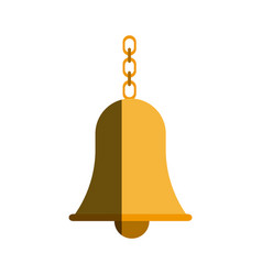 School bell with chain hanging traditional vector