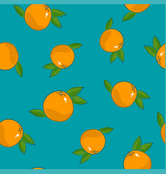 Seamless pattern grapefruit on azure background vector