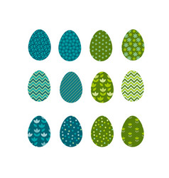 Set of color easter eggs traditional symbol of vector
