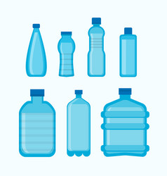 set of different water bottles vector image vector image