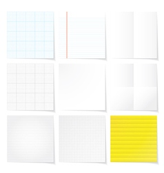set of papers background vector image vector image
