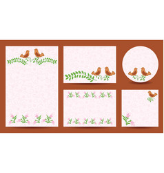 Set of templates for wedding - invitation cards vector