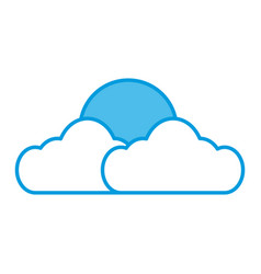 Sun and cloud symbol vector