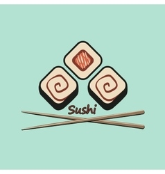 Sushi logo vector image vector image