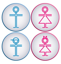 Toilet Sign wc vector image vector image