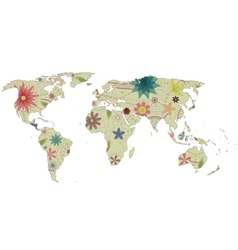 World map vintage 2 vector