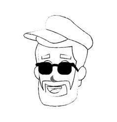 Young man cartoon icon image vector