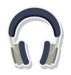 hearphones music sound isolated vector image