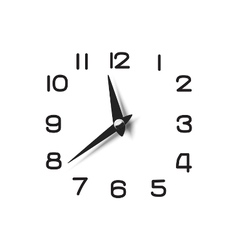 Clock dial with pointers and numerical symbols vector