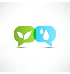 Eco water and vegetation symbol vector