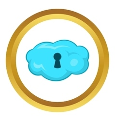 Cloud storage icon vector