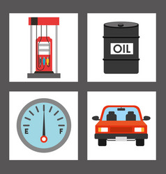 Oil industry business icons vector