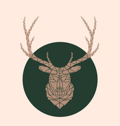 geometric deer face vector image