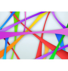 Colorful swooshy bridges vector image