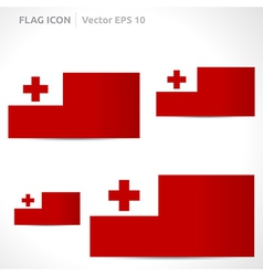 Tonga flag template vector