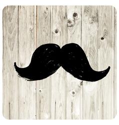 Moustache symbol vector
