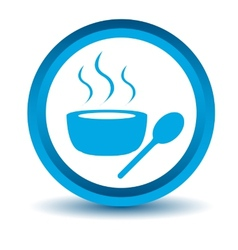 Blue lunch time icon vector